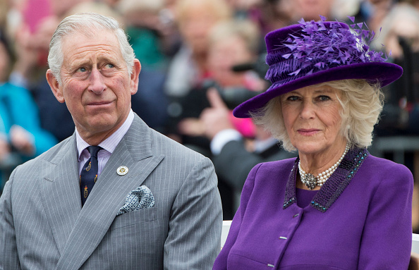 POUNDBURY, ENGLAND - OCTOBER 27:  Prince Charles, Prince of Wales and Camilla, Duchess of Cornwall attend the unveiling of a statue of Queen Elizabeth The Queen Mother during a visit to Poundbury on October 27, 2016 in Poundbury, Dorset.  (Photo by Mark Cuthbert/UK Press via Getty Images)